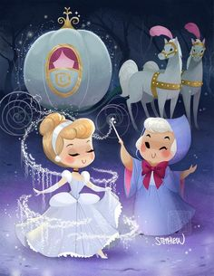 Disney Drawing Glass Slipper Cutie - or Print Print will be hand signed by me! Print will come in clear a plastic baggie with a back board! Disney Magic, Disney Pixar, Animation Disney, Disney Artwork, Disney Princess Art, Disney Fan Art, Disney Films, Disney And Dreamworks, Disney Cartoons