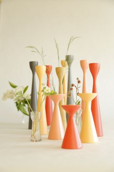 FREEMOVER.se original Inga™ Rolf™ and Ester™ Wooden Candlesticks by Maria Lovisa Dahlberg. 40 colors, 7 sizes - endless combinations!