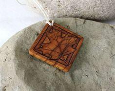 Wood Maple Leaf Pendant, Wood Leaf Necklace Natural Jewelry | SepiaTree - Jewelry on ArtFire #wood, #maple_leaf, #pendant