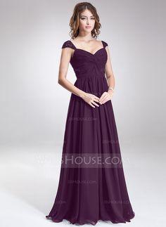 A-Line Princess Sweetheart Floor-Length Chiffon Bridesmaid Dress With  Ruffle Beading Sequins ed8817f2d190