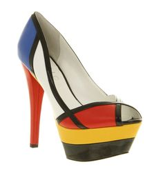 Fashion inspired by Art - Piet Mondrian. #red #yellow and #blue
