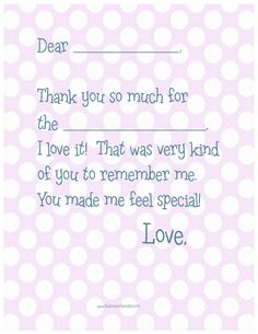 free printable fill in blank thank you notes pink polka dot