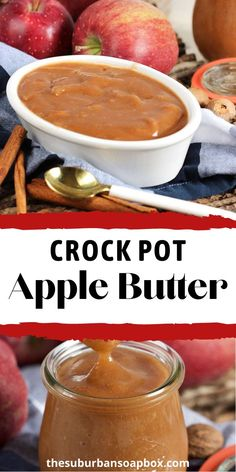 Sweet, cinnamon-y and smooth, the very best Crock Pot Apple Butter recipe is the easiest thing you'll ever make. Spread it on sandwiches, crackers with cheese, or top a wheel of creamy brie for a wonderfully simple appetizer.