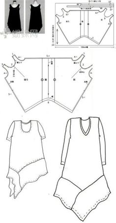 Sewing Darts - Step by Step Easy Tutorial Dress Sewing Patterns, Clothing Patterns, Style Patterns, Sewing Clothes, Diy Clothes, Modelos Plus Size, Illustration Mode, Bohemian Mode, Schneider