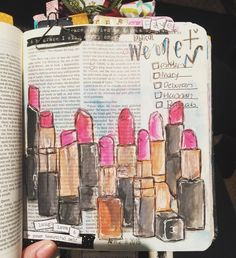 Lipstick for the ladies!! Favorite women in the Bible. #listsbyfaith #illustratedfaith #biblejournaling #passion #womenoffaith #inspiration #influence by ashleycourtneyghio