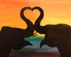 Elephant Silhouette Love at Carrabba's Italian Grill (Pasadena) - Paint Nite Events near Pasadena, MD>