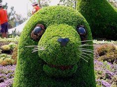 Beautiful Grass Sculptures