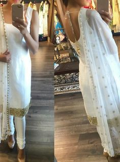 Are you searching for quality Elegant Indian Sari and items such as Classic Saree plus Bollywood then you'll like this CLICK Visit above for more options Punjabi Fashion, Bollywood Fashion, Indian Fashion, Ethnic Fashion, Indian Attire, Indian Ethnic Wear, Indian Suits Punjabi, Indian Style, White Punjabi Suits