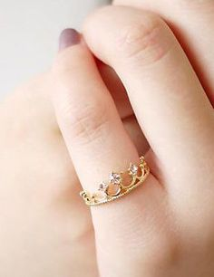 Hey, I found this really awesome Etsy listing at https://www.etsy.com/listing/218030904/diamond-crown-ring-gold-plated-crown