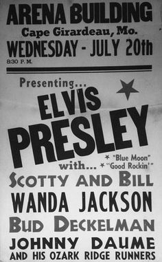 1955 ELVIS Concert Ticket. Read about this concert here> http://www.semissourian.com/story/1460274.html