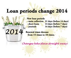 Loan periods change in 2014.  #library ad #library poster