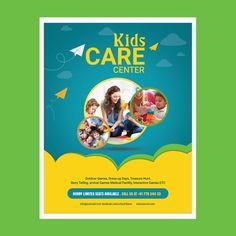 kids care center, kids care center flyer, kids care center poster, kids care center template psd, play school flyer, play school poster, kids day care poster, kids play school advertisemnt
