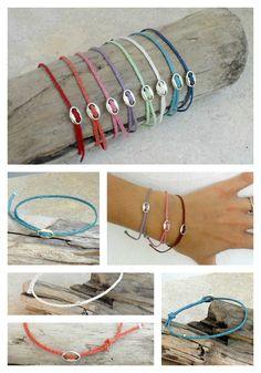 Beadstheater braided friendship bracelet waxed irish linen -