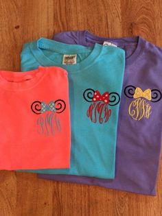 Matching shirts for Disney