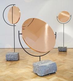 L A M P LOVES these.  Copper Mirror Series by Hunting & Narud