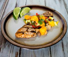 Citrus Turkey Cutlets with Mango Salsa - an easy summer time grilling recipe