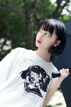 Pin on 7 池田七帆 Tomboy Hairstyles, Short Bob Hairstyles, Medium Hair Styles, Short Hair Styles, Cute Girls, Cool Girl, Korean Short Hair, Cute Kawaii Girl, Asia Girl