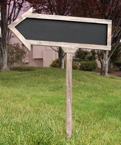 Another great find on #zulily! Double-Sided Arrow Chalkboard Sign by Save On Crafts #zulilyfinds