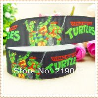 Teenage Mutant Ninja Turtles series printed grosgrain ribbon, gift wrap ribbon, wedding ribbon, DIY craft materials,XW42044