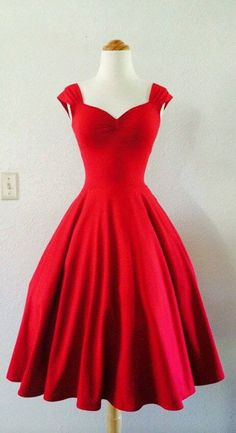 Cherry Red Rockabilly Dress Pin Up VALENTINES by MoonbootStudios I love it my dream dress so beautiful Dresses Short, A Line Prom Dresses, Prom Party Dresses, Homecoming Dresses, Dress Prom, Prom Gowns, Evening Gowns, Dress Formal, Wedding Dresses