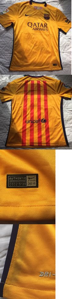 Soccer-International Clubs 2887: Barcelona Spain 2015 2016 Away Football Shirt Jersey Camiseta Nike Size Xl New. -> BUY IT NOW ONLY: $35 on eBay!