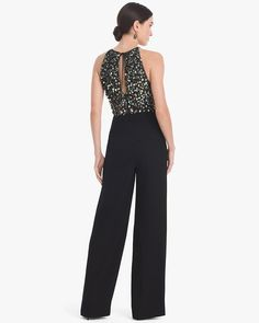 Women's Monique Lhuillier Beaded Bodice Jumpsuit by White House Black Market Fashion Wear, Fashion Pants, Fashion Outfits, Pretty Outfits, Beautiful Outfits, Office Outfits, Casual Outfits, Jumpsuit For Wedding Guest, Long Plaid Skirt