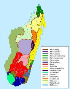 verspreiding van de etnische groepen van Madagaskar // Ethnic groups of Madagascar Map ◆Madagaskar - Wikipedia http://nl.wikipedia.org/wiki/Madagaskar #Madagascar