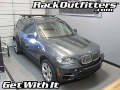 BMW X5 Thule Rapid Crossroad BLACK AeroBlade Roof Rack '07-'13*