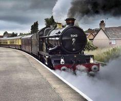 5043 Earl of Mount Edgcumbe by Malcolm Rose Steam Railway, Abandoned Train, Train Art, British Rail, Old Trains, Train Engines, Great Western, Train Tickets, Steam Engine