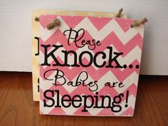 Please knock babies are sleeping sign by Delightdesigns2 on Etsy