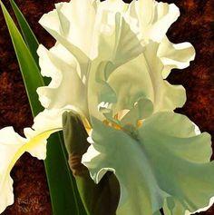 Pintura Moderna al Óleo: Cuadros con flores orquídeas