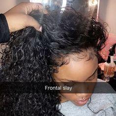 Frontal and bundles sewins Deep Curly, Shiny Hair, Textured Hair, Woman Fashion, Fashion Black, Remy Human Hair, Human Hair Wigs, Outfit Goals, Hair Goals