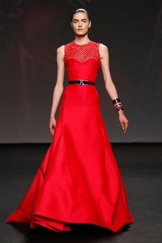 Dior Haute Couture Autumn-Winter 2013 – Look 45: Embroidered red silk dress. Discover more on www.dior.com #Dior#PFW