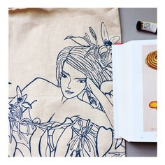 Woman ink illustration, Vanilla Nymph © Maria Wright, Flap Jackie Studio