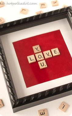 scrabble block art