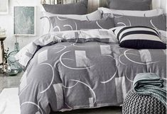 Made of cotton fabric, Bromley grey Quilt Cover Set/ Doona Cover Set from Luxton print abstract quilt cover collection. It features a beautiful design with contrasting colours for a casual look and feel. Offering a cosy and natural style of your bedroom. King Size Quilt Covers, Quilt Cover Sets, Queen Mattress Topper, Queen Size Quilt, Grey Quilt, Foam Pillows, Frames On Wall, Colours, Quilts