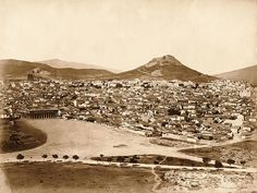 Athens panorama 1868 (Bonfils)   The photo can be dated to e…   Flickr Greek History, Athens Greece, Ancient Greece, New Media, Vintage Photos, City Photo, Cathedral, The Neighbourhood, The Past