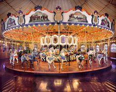The Santa Monica Pier carousel, California