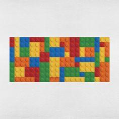 Adesivo de Parede para Cabeceira Lego   Mudo Minha Casa