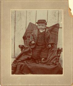 Antique Photo 1860's Toddler in Soldiers Civil War Type Cap Wears Ring Blanket | eBay