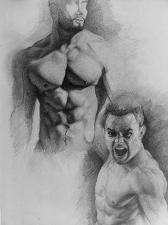 Muscle Study by AATheOne.deviantart.com on @DeviantArt