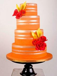Orange Wedding Cake. Would you have something like that at your wedding?