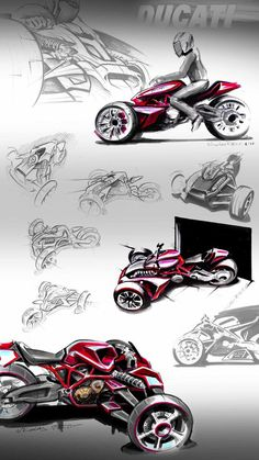 Ducati Desmosedici RR Trike Concept   Design Sketches