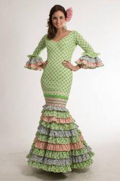 Spanish Fashion, Ethnic, Dancer, Dresses With Sleeves, Crochet, Long Sleeve, Beauty, Vintage, Ruffles