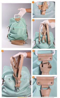 Unique Fresh Multifunction Light Blue Nice Backpack &Handbag on Luulla