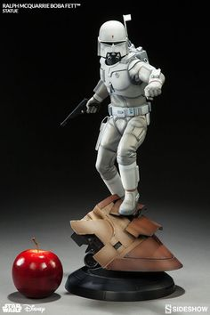 The Boba Fett Statue from the Ralph McQuarrie Artist Series is now available at Sideshow.com for fans of Star Wars and Disney.