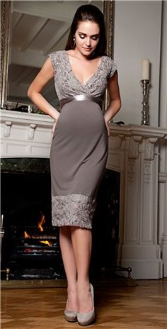 Of course I love this dress - it's maternity wear! Twilight Lace Maternity Dress (Mocha) - Maternity Wedding Dresses, Evening Wear and Party Clothes by Tiffany Rose Maternity Wear, Maternity Fashion, Maternity Wedding, Maternity Styles, Maternity Party Dresses, Pregnancy Formal Dresses, Maternity Evening Wear, Maxi Dresses, Tiffany Rose
