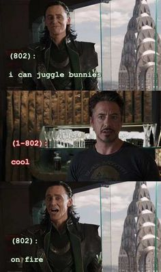 Texts From the Avengers. loki i knew you killed people but not bunnies. Avengers Texts, Marvel Avengers, Dc Movies, Marvel Movies, Marvel Characters, Marvel Images, Texts From Last Night, Tom Hiddleston Loki, Marvel Funny