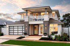 2 Storey Homes Perth - Benchmark Home Designs 2 Storey House Design, Two Storey House, Double Story House, Contemporary House Plans, Storey Homes, Facade House, House Facades, House Elevation, Balcony Design