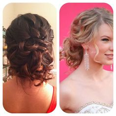 prom homecoming updo low messy bun inspired by Taylor Swift #jamiewarzel